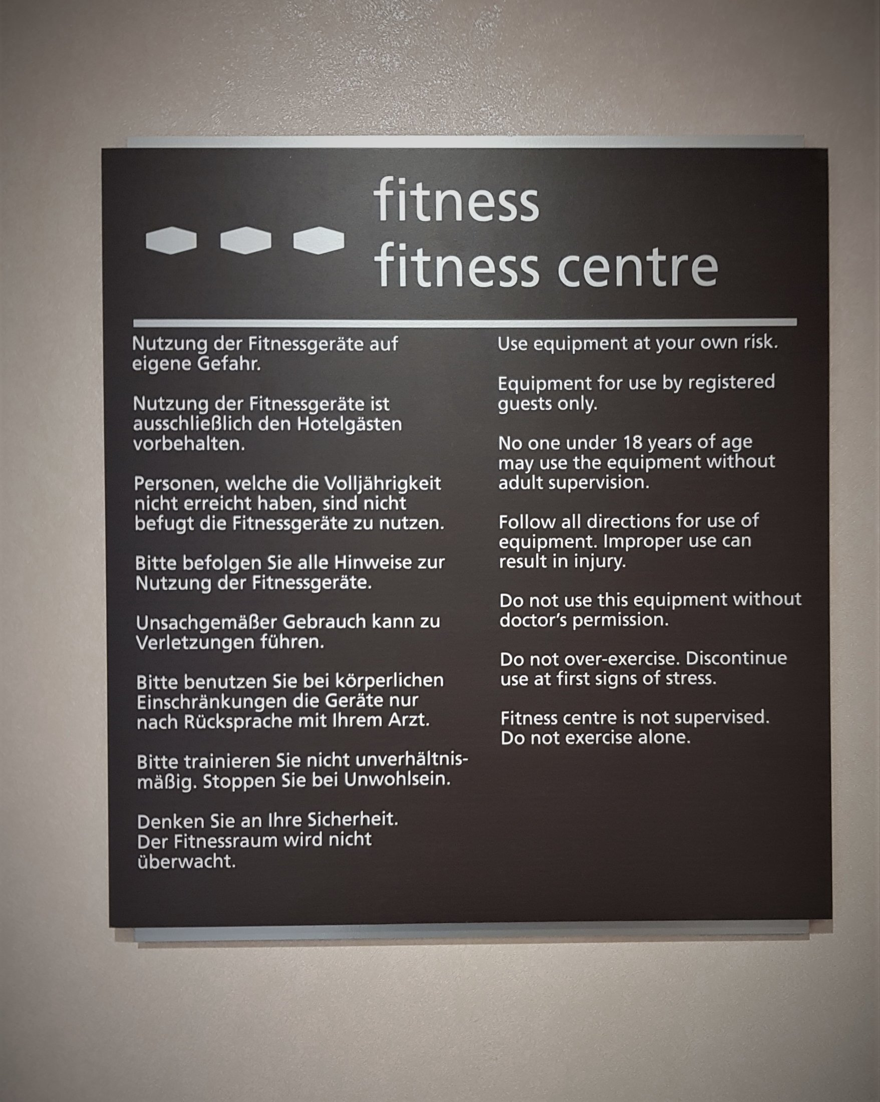 FITNESS RULES