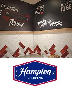 Signalétique Hampton BY HILTON