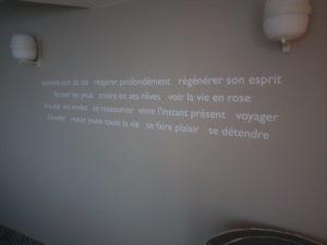 Signalisation citation mur Spa