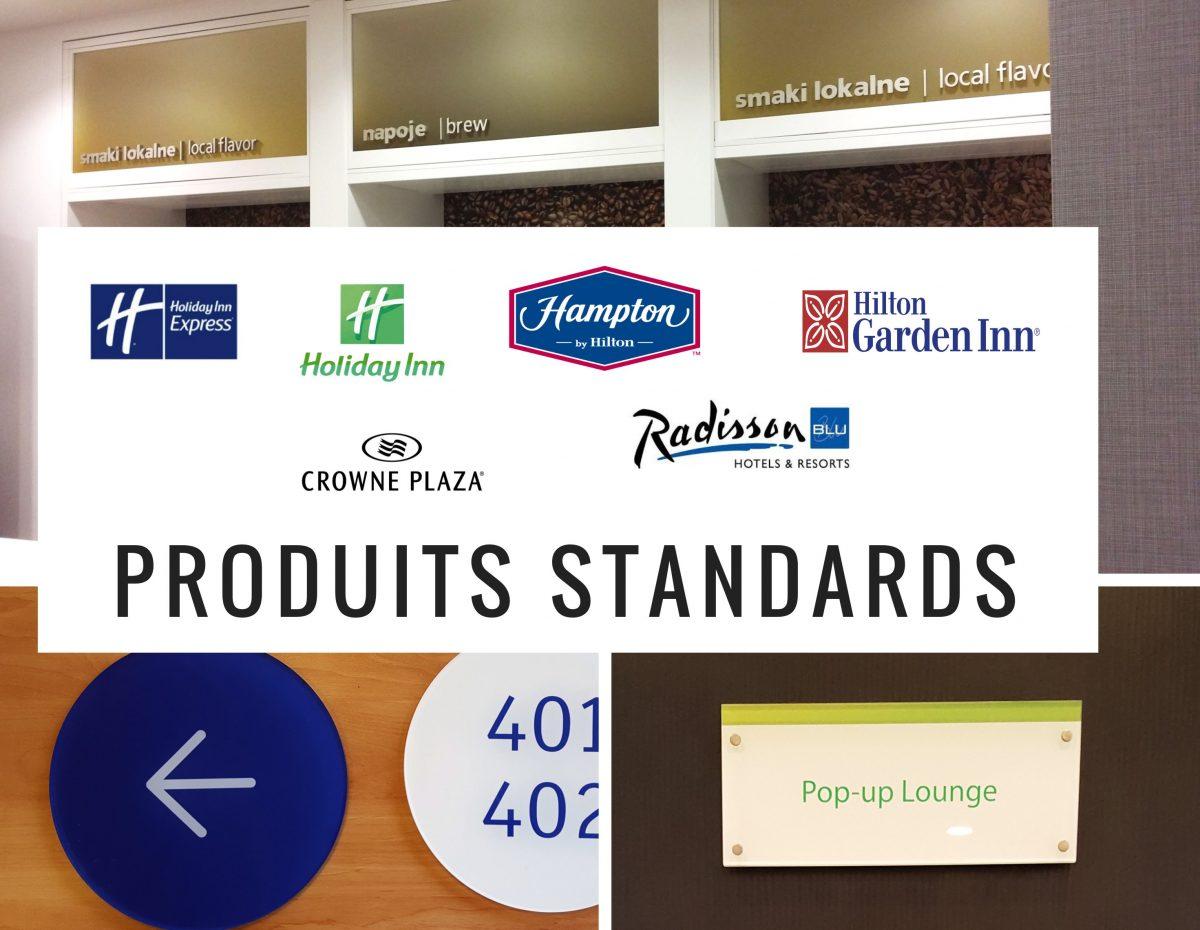 Produit standard signalétique hotellerie